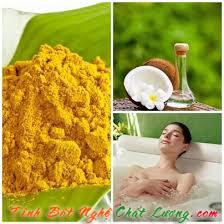 tinh dầu dừa với tinh bột nghệ là một sự kết hợp hoàn hảo giúp dưỡng ẩm tốt nhất cho da