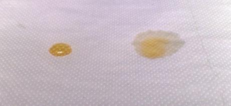 phân biệt mật ong rừng bằng cách nhỏ lên vải