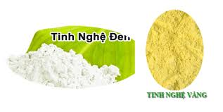 mẹo phân biệt tinh bột nghệ vàng được làm từ tinh bột nghệ đen với bột nghệ vàng